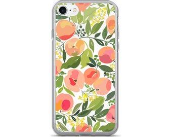 Peach iPhone Case, Phone Case Peach, Peach Phone Case, Protective iPhone Case, iPhone 7 Case, iPhone 6 Case, iPhone 5, Fruit Phone Case