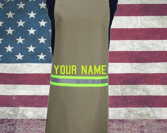 Firefighter Chef TAN Turn-out Gear Apron