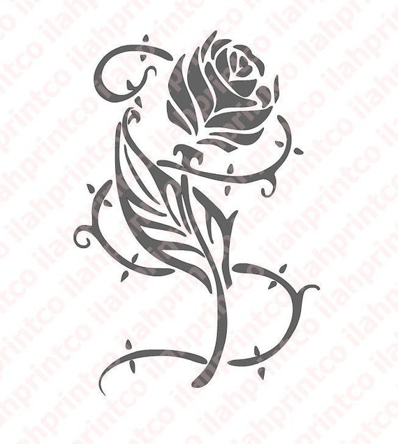 Beauty And The Beast Rose Decal