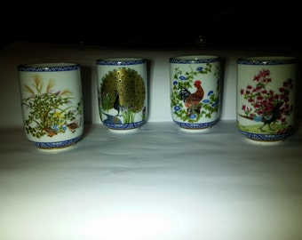 Rare 1985 Japanese Sake cups