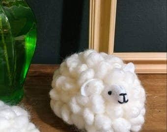 fluffy lamb, easter decor, home decor, crochet animal, sheep, fluffy sheep, Easter, gift, ready to ship,