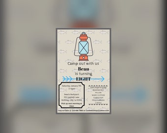 Camp Out Party Invitation (DIGITAL)