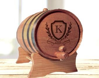 Personalized Whiskey Barrel, Oak Barrel, Groomsmen Gift Father's Day Gift, Engraved Whiskey Barrel, Wine Barrel, Wood Barrel, Mini Barrel