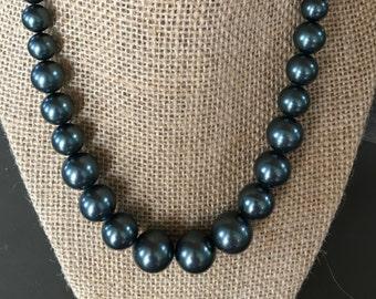 Tahitian colored Swarovski Pearl graduated necklace