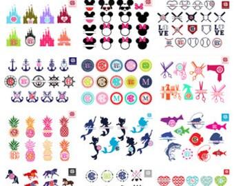 Svg Bundle, All Files In the Store,Monogram Frames svg Bundle, Save big sale, monogram bundle,All shop SVG DXF, Monograms SVG font Bundle, .