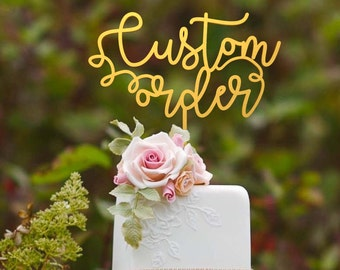 Wedding Cake Topper,Mr and Mrs Cake Topper With Last Name,Custom Cake Topper,Personalized Cake Topper
