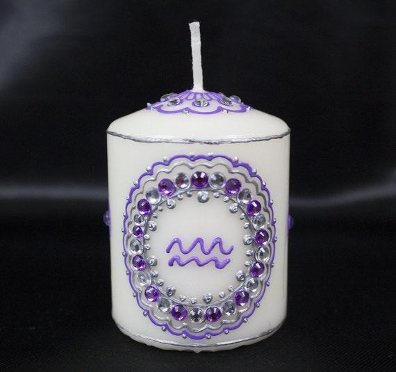 Aquarius Henna Candle