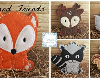 Woodland Friends Felt Finger Puppets