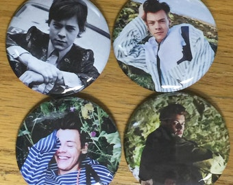 Harry Styles Pinback button Set-New 2017-Set of 4-2.25 inch