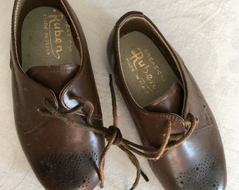 1950's Italian Leather Children's Shoes !!! size 22