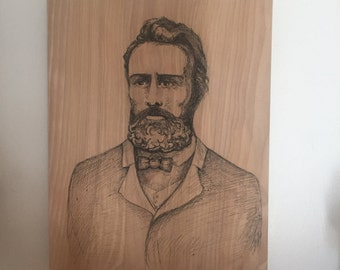 "Portrait of Herman Melville 9"" x 12"""