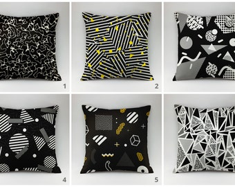 Memphis style pillow cover Decorative pillow Throw pillow cover Cushions Printed pillow geometric pillow 18x18 20x20 graphic cushion