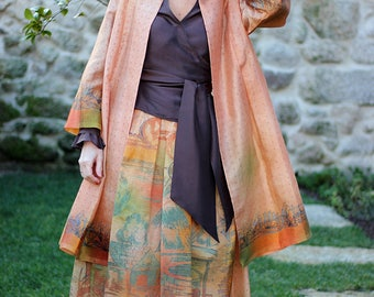 Skirt and coat set