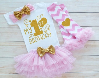 1st Birthday Girl, First Birthday Girl Shirt, Baby Girl Birthday Announcement, Birthday Bodysuit, Princess Birthday Outfit, Birthday Gift