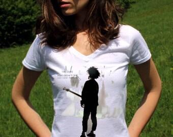 The Cure Band TShirt The Cure T shirt Alternative Rock Punk Lady White T shirt Rock Shirt Women Tee Shirts Band Tee