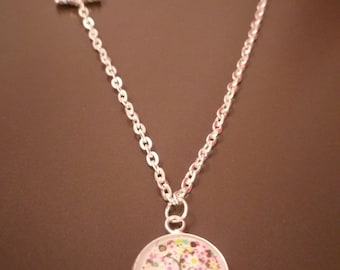 Liberty necklace and charm tree cabochon