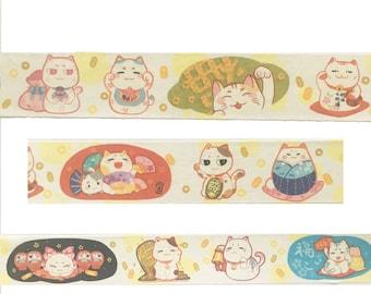 Neko Lucky Cat washi tape sample