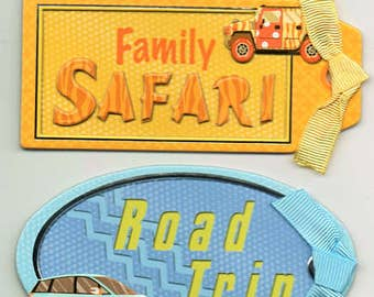 Vacation Road Trip K&Company Chipboard Stickers Scrapbook Embellishments Cardmaking Crafts