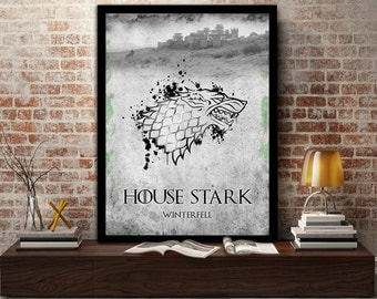 House, Stark, Game Of Thrones, Winterfell, Wolf, Winter, Winter is coming, Jon Snow, Arya Stark, Eddard Stark, Sigil