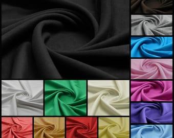 Plain 100% Cotton Interlock Double Jersey Fabric - per meter