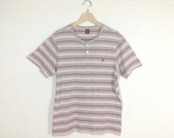 Vintage 90s Takeo kikuchi Striped Shirt | T-Shirt Size M