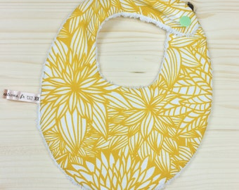 Baby mustard flower birth bib