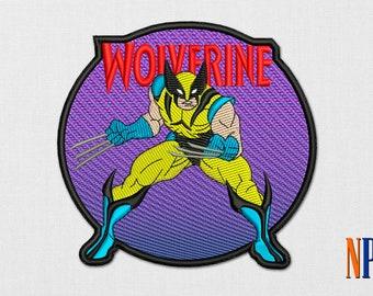 Wolverine X-Men Patch machine embroidery design. Logan Marvel embroidery design. Superhero. Mervel. X-Man. Embroidery file