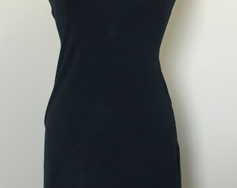 1990s Navy Blue Esprit Sporty Dress