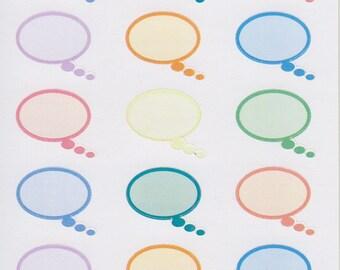 Speech - Thought Bubble Oval | 175 | Planner Sticker | Kikki-K | Happy Planner | Erin Condren