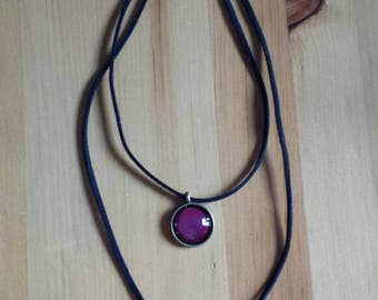 2-storey round necklace