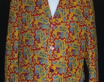 """RARE Vintage 1960's Paisley Jacket 38"""" - 40"""" Chest Originally purchased on Carnaby Street in the late 60s Excellent condition. Psyche, Mod"""