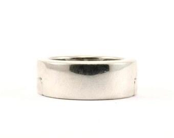 Vintage GC Signed Magnet Magnetic Ring 925 Sterling Silver RG 1118