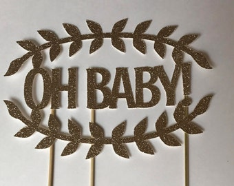OH Baby Gender Reveal Cake Topper