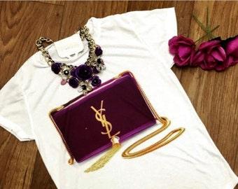 SALE! Ysl fashion Handbag t-shirt