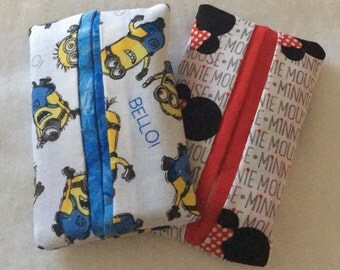 Children Tissue Packs - Great Gifts - Kleenex Packs - Minnie Mouse - Minions