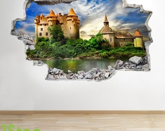 Fairytale Castle Wall Sticker 3d Look - Boys Girls Enchanted Wall Decal Z287