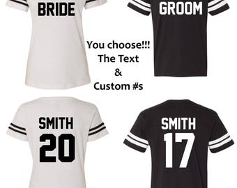 Bride Groom Shirts - Personalized Bride Shirt & Groom Shirt - Save The Date Shirts - Future Bride Shirts -Wedding Shirts-Engagement Shirts