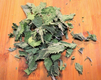 Dried Stinging Nettle - Certified Organic, Stinging Nettle, Dried Herbs, Medicinal, All Natural, Loose leaf, Urtica dioica, Nutrients, Wild