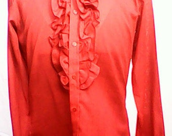 Jaytex Ruffled Shirt 1970s.