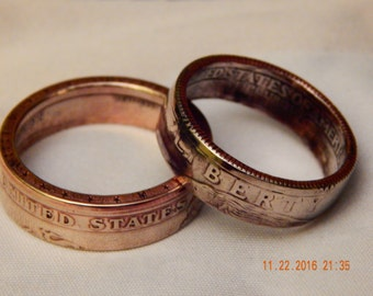 Pocket Change Coin Rings