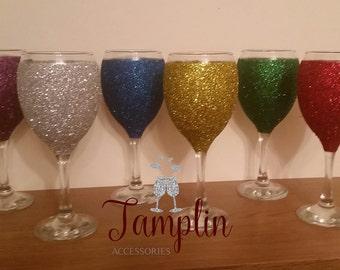 Glitter glasses / Birthday Gift / Tablewear / Party Decor