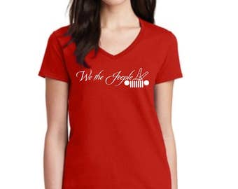 "V neck ladies ""We the Jeeple"" t shirt"