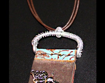 Leather Locket Necklace & Upcycled pieces and Jewelry - Celebrate Your Milestones with an Ebenezer Altar