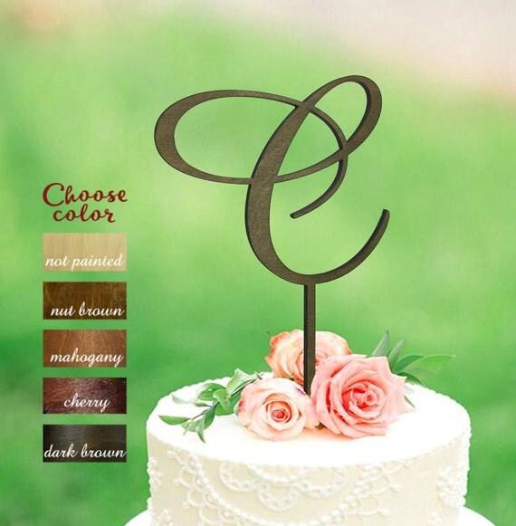 lettre c cake topper initiales de gâteau gâteau de mariage