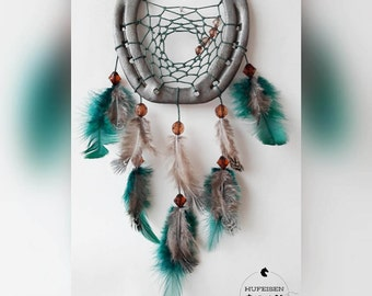 Horseshoe Dreamcatcher Emerald Brown
