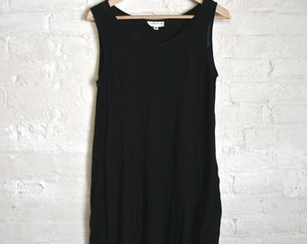 Crepe Tank Swing Dress