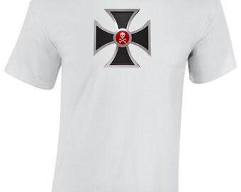 Mens Choppers Cross Biker Shirt in Sizes S - XXXL, Motorcycle, Rocker