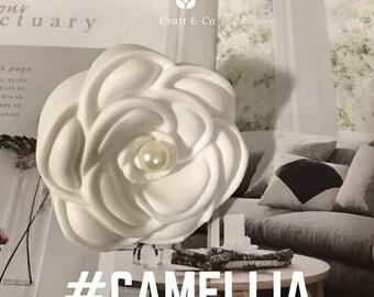 Camellia Perfume Plaster /Car Air Freshener / Camellia /Plaster Air Freshener / Ornament / handmade /diffuser  /Car interior/ car vent clip