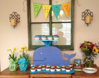 Whale Cupcake Stand