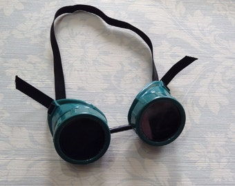 Green Welding Goggles, Steampunk, USA